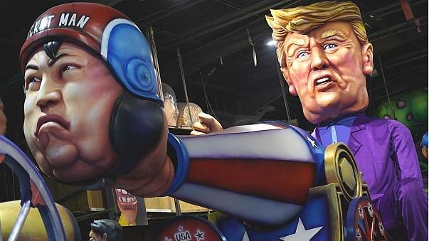 Трамп Ким Чен Уныг их буугаар буудаж буйгаар дүрсэлжээ