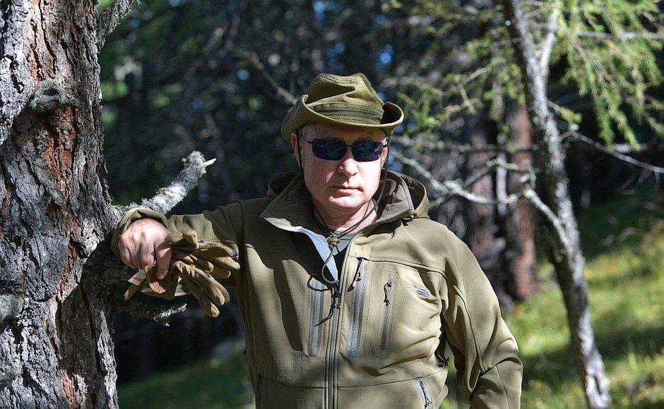 ФОТО: В.Путин  төрсөн өдрөө тайгад самар түүж тэмдэглэжээ