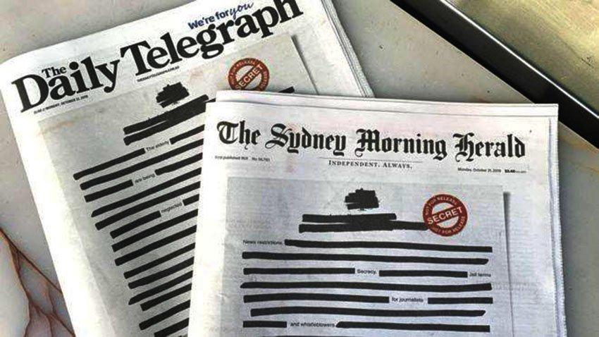 Австралийн сонинууд хэвлэлийн эрх чөлөөний төлөөх тэмцлээ эхлэв