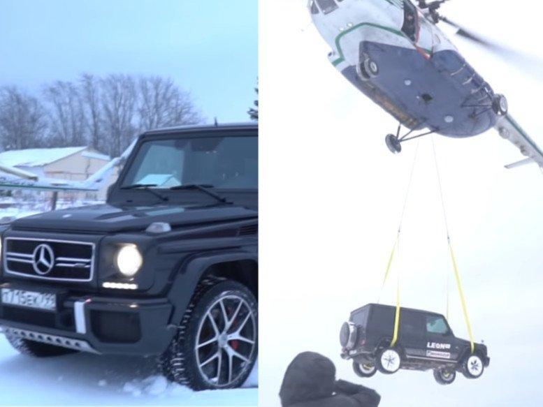 ВИДЕО: Нисдэг тэрэгнээс Mercedes Benz G63 хаяв