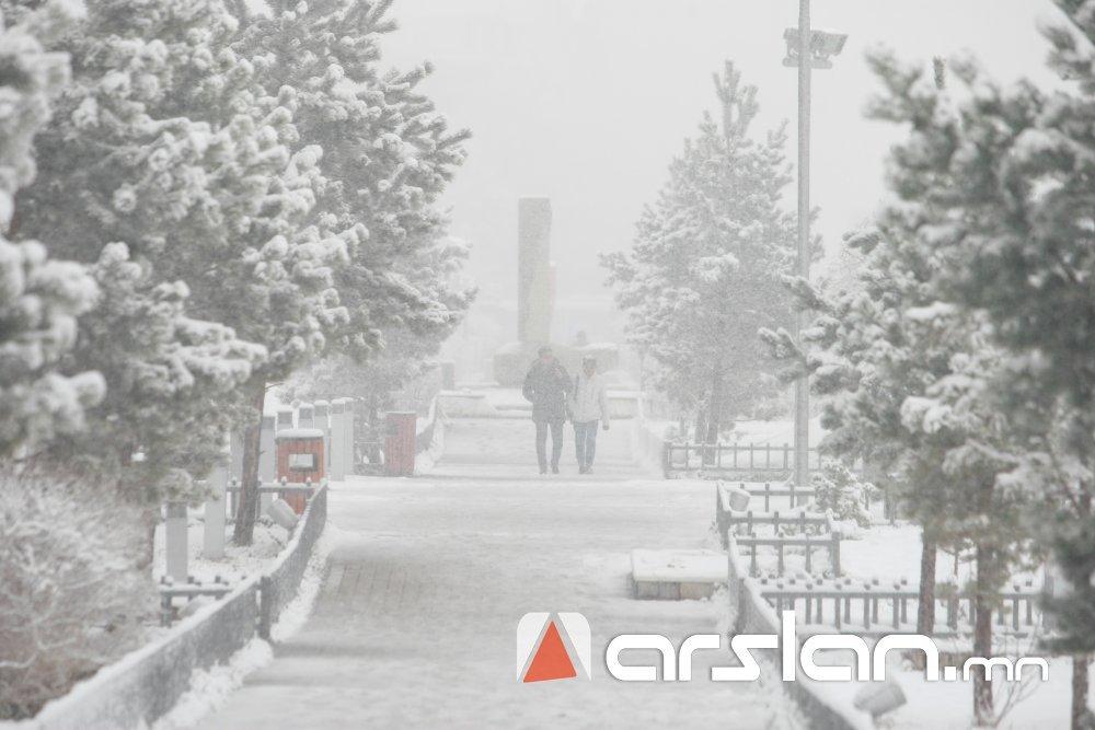 Өнөөдрөөс баруун болон төвийн аймагт цасан шуурга шуурч, ихэнх нутгаар хүйтэн салхитай байна