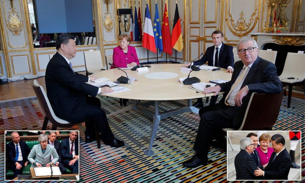 ФОТО: Ши Жиньпин  Европын Холбооны удирдлагуудтай  дугуй ширээний уулзалт хийжээ