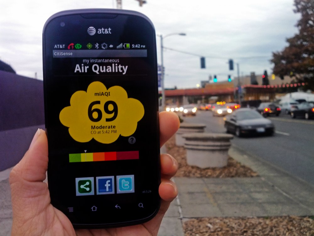 Гар утсаараа агаарын чанарыг хэмждэг болно