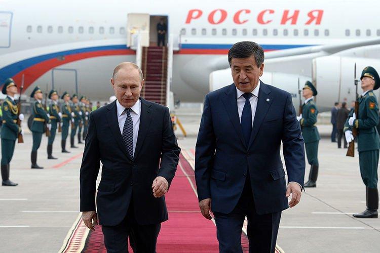 ФОТО: В.Путин төрийн айлчлал хийхээр Киргиз улсад хүрэлцэн очлоо