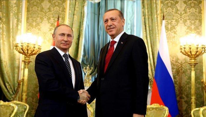 ФОТО: В.Путин, Р.Т.Эрдоган  нар уулзлаа