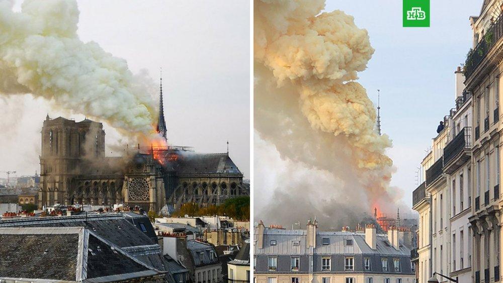 850 жилийн түүхтэй Парисын Дарь эхийн сүм түймэрт шатжээ