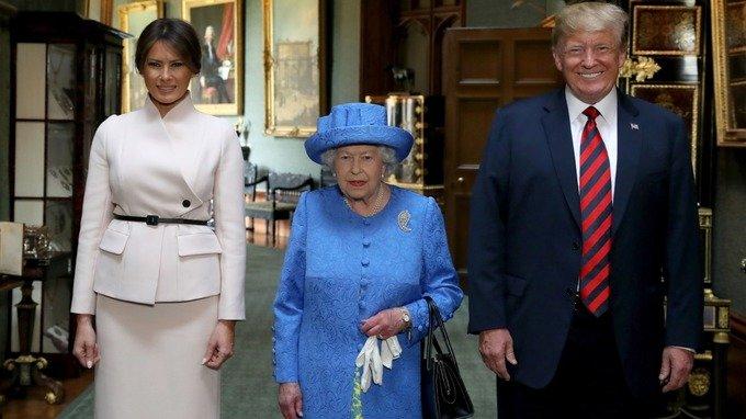 ФОТО: Д.Трамп  Их Британидхүрэлцэн очжээ