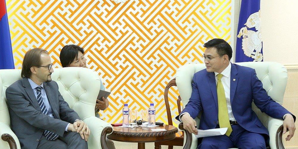 Олон улсын шилжилт хөдөлгөөний байгууллагын Монгол дахь салбарын захирлыг хүлээн авч уулзлаа