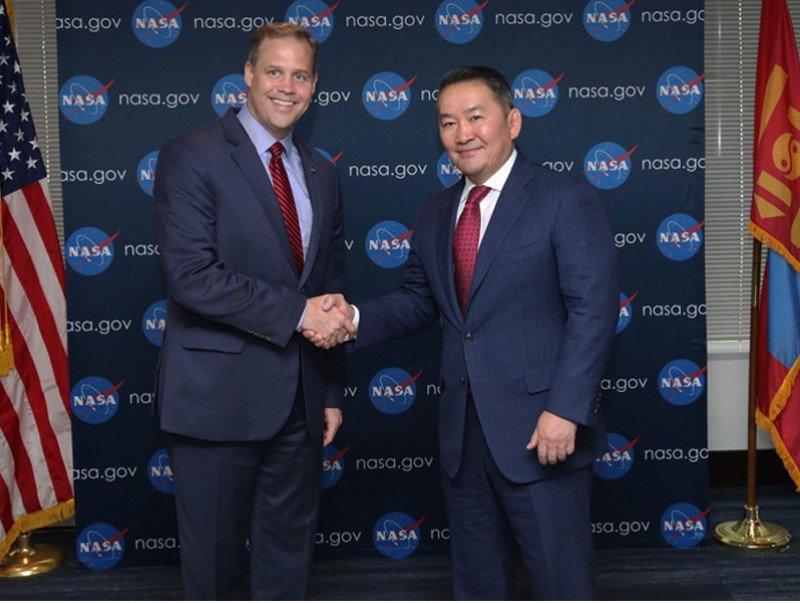 """""""НАСА""""-гийн дарга Ж.Брайданстан Монгол Улсын Ерөнхийлөгчид бараалхав"""