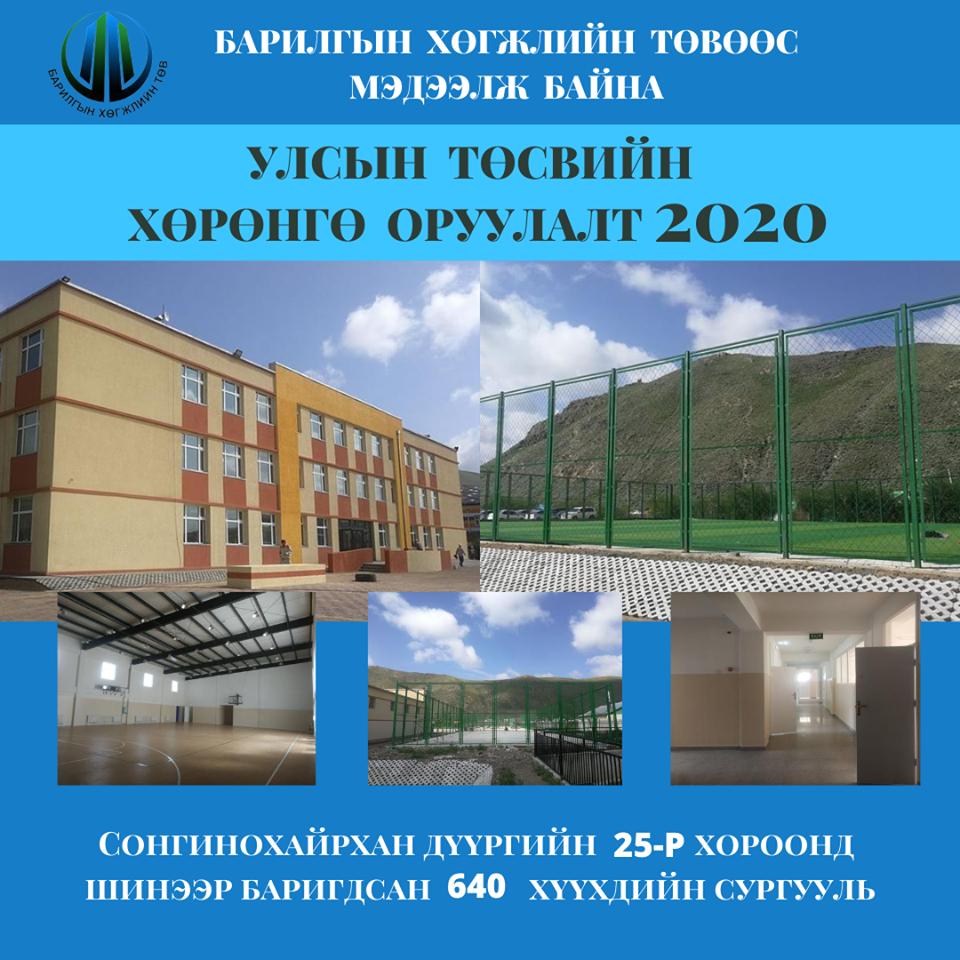БХТ: 640 хүүхдийн шинэ сургуулийн барилгын ажил бүрэн дууслаа