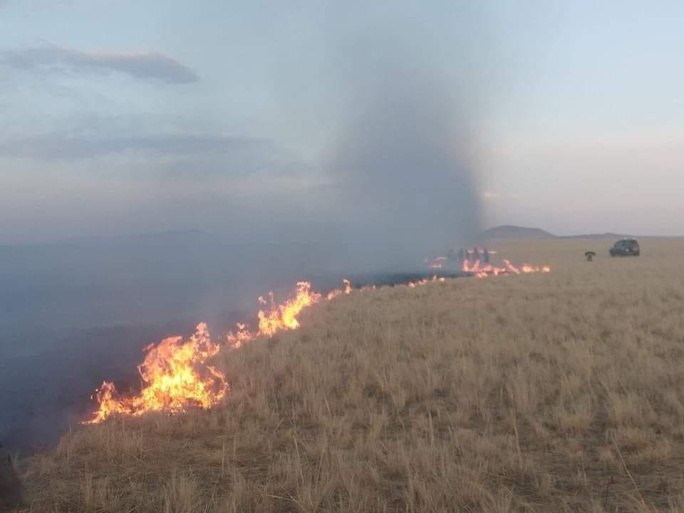 СЭРЭМЖЛҮҮЛЭГ: Сүхбаатар аймгийн Дарьганга сумын нутагт хээрийн түймэр гарчээ
