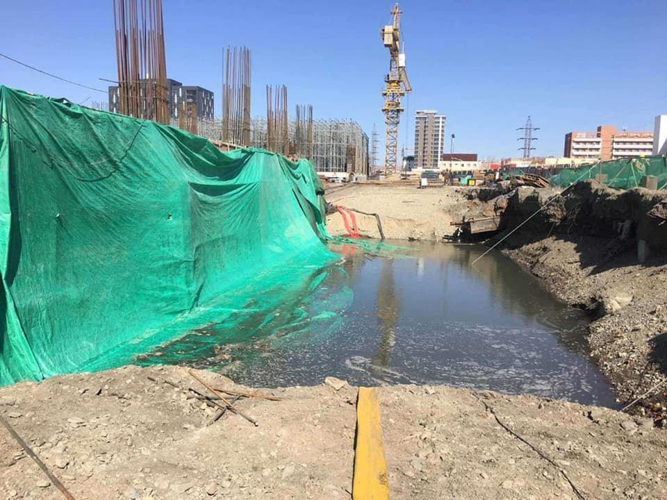 Барилгын сууриас гарсан усыг Туул голд цутгаж байсан компанийн үйл ажиллагааг зогсоожээ