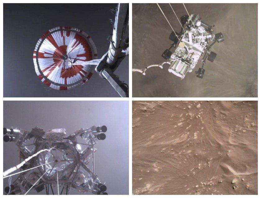 НАСА-гийн робот Ангараг дээр газардаж буйг харуулсан анхны бичлэгээ илгээжээ