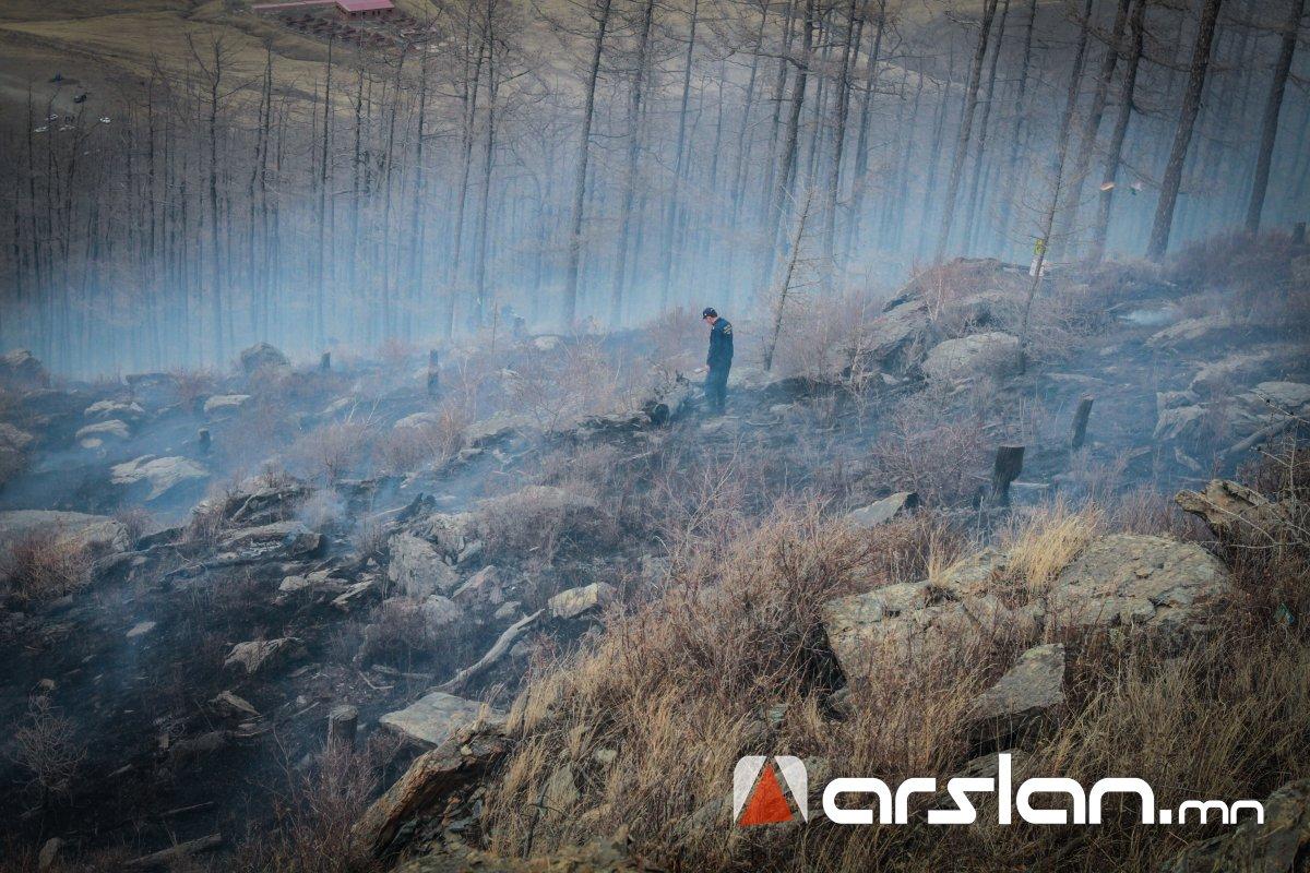 Хэнтий аймгийн Норовлин суманд гарсан хээрийн түймрийг бүрэн унтраажээ