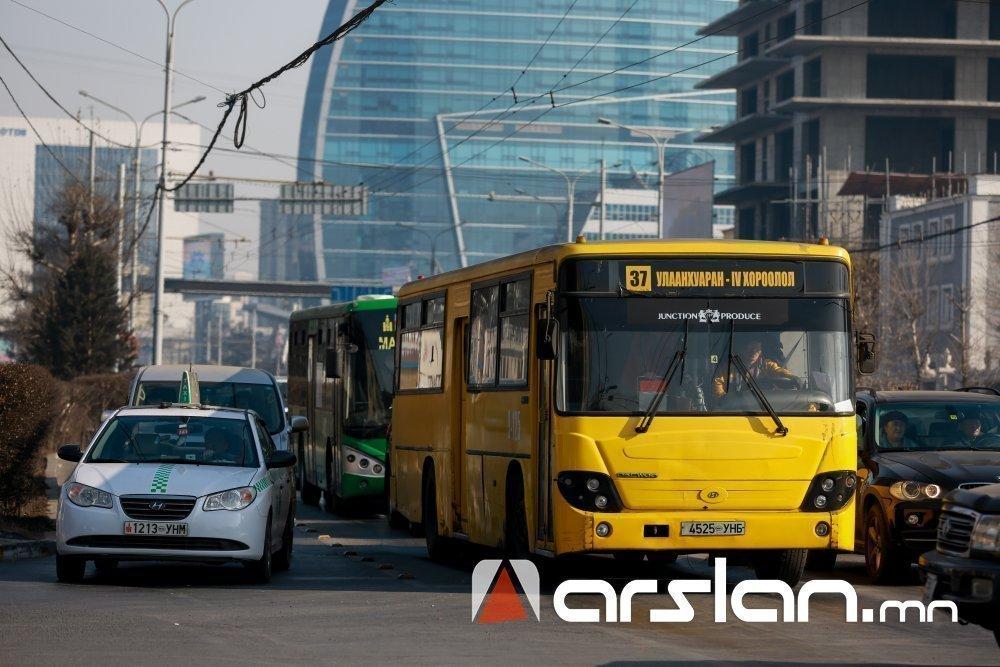 Долдугаар сарын 24-25-нд түр зогсох, маршрутаа өөрчлөх нийтийн тээврийн ХУВААРЬ