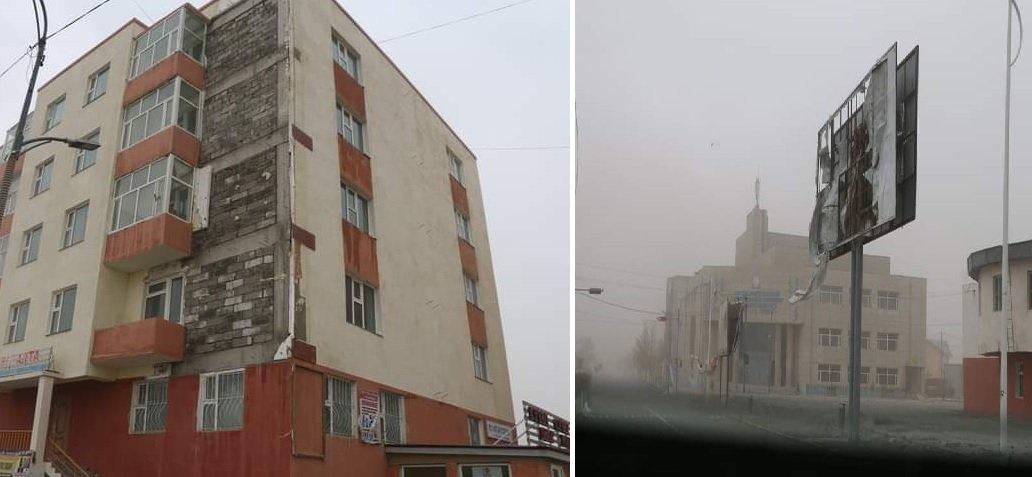 ФОТО: Говь-Алтайд хүчтэй шуурганы улмаас 25 айлын гэр нурж, 28 байшингийн дээвэр хууларчээ