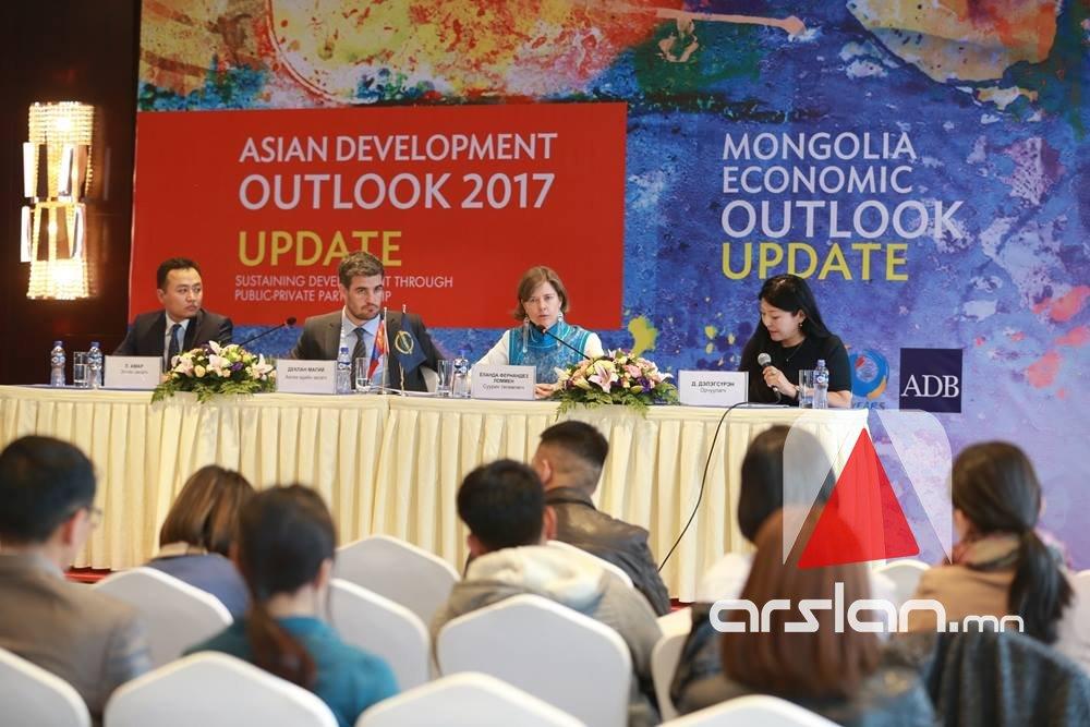 Азийн хөгжлийн банк: 2018 онд Монгол улсын эдийн засаг 3 хувиар өснө
