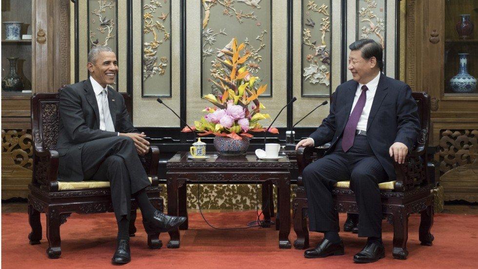 Барак Обама Ши Жиньпин нар уулзлаа